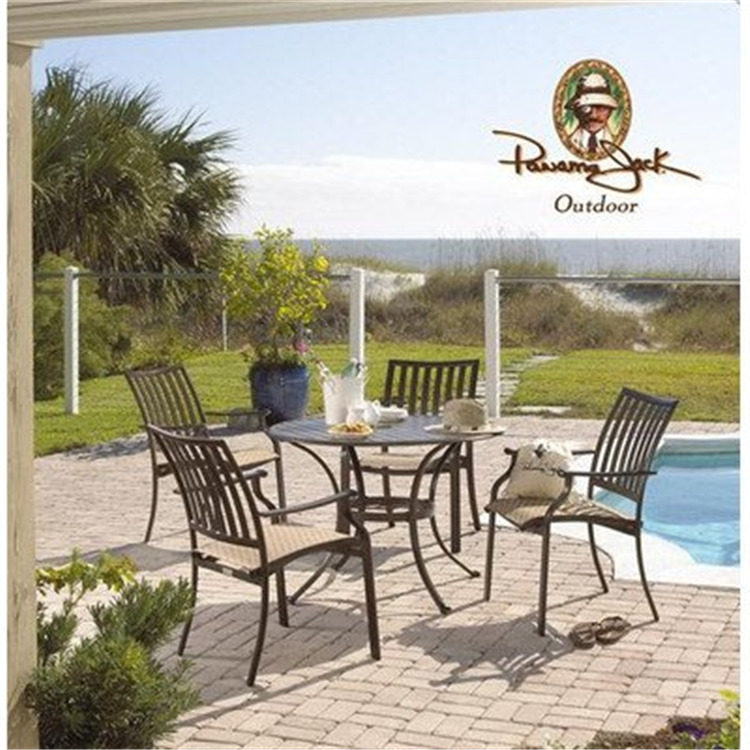 Panama Jack Island Breeze 5 PC Slatted Dining Group (4 Arm Chairs & 42
