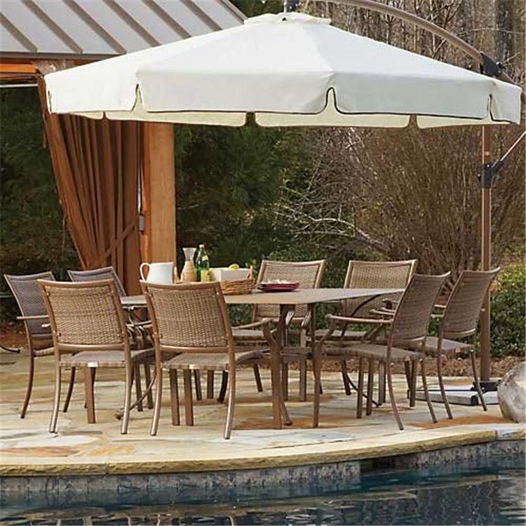 Panama Jack Island Cove 9 PC Slatted Dining Group (8 Arm Chairs & 60