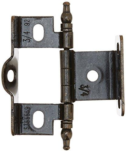 3/4 in (19 mm) Door Thickness Full Inset, Full Wrap, Minaret Tip Dark Antique English Hinge - 50 Pack