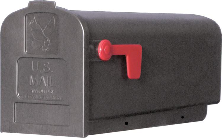 Pl10B Mailbox Rural Blk #1