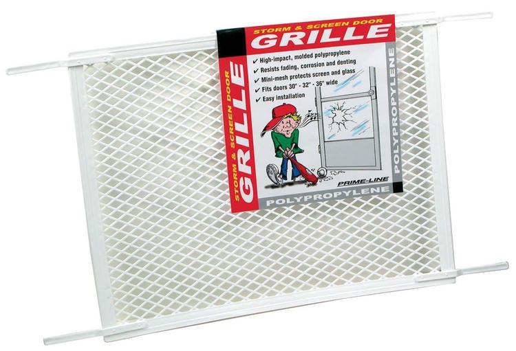 Pl15517 Scrn Door Grill Wht