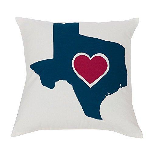 Texas Heart Pillow, 18x18