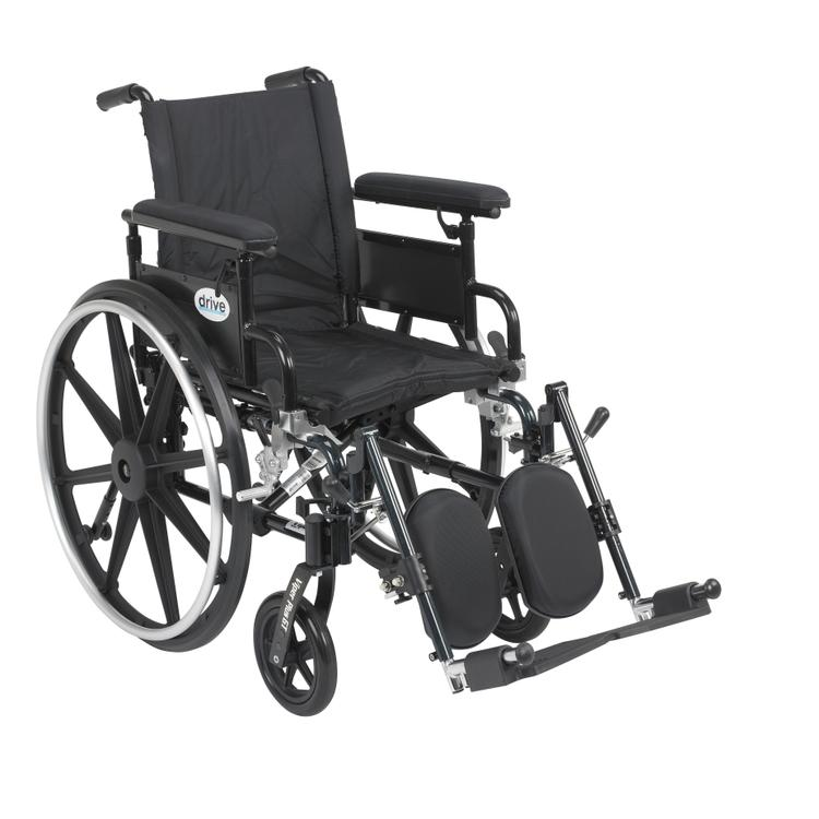 Viper Plus GT Wheelchair with Flip Back Removable Adjustable Full Arms, Elevating Leg Rests, 16