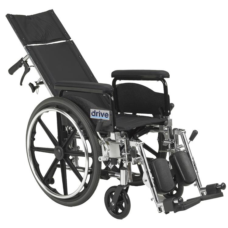 Drive Medical Viper Plus GT Full Reclining Wheelchair [Item # pla418rbdfa]