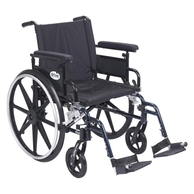 Viper Plus GT Wheelchair with Flip Back Removable Adjustable Full Arms, Swing away Footrests, 20