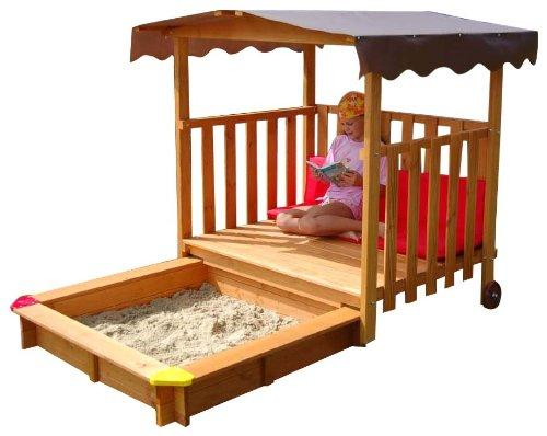 PLAYHOUSE Sandbox - playhouse rolls over the sandbox