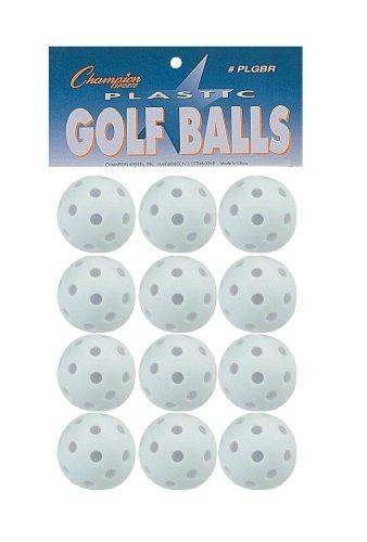 Plastic Golf Ball Retail Pack 12