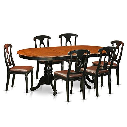 East West Furniture Dining Room Set-Dining Table With Wood Dining Chairs