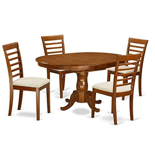 Dining Room Set - Oval Dining Leaf With Dining Chairs