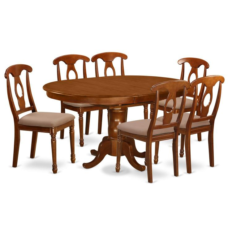 Dining Room Set-Oval Dining Table With Leaf And Chairs