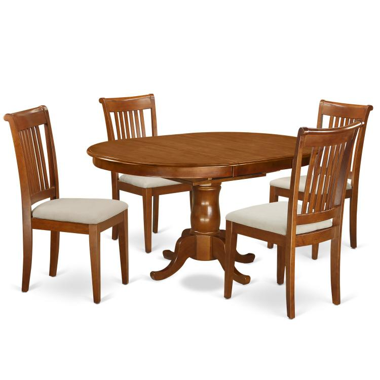 East West Furniture 5-Piece Dining Table Set