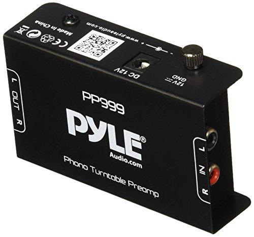 Compact Ultra-Low Noise Phono Turntable Preamp with 12-Volt Adaptor - Preamplifier