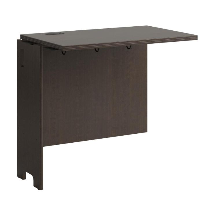 BBF Envoy Collection Mocha Cherry 32W Desk Return