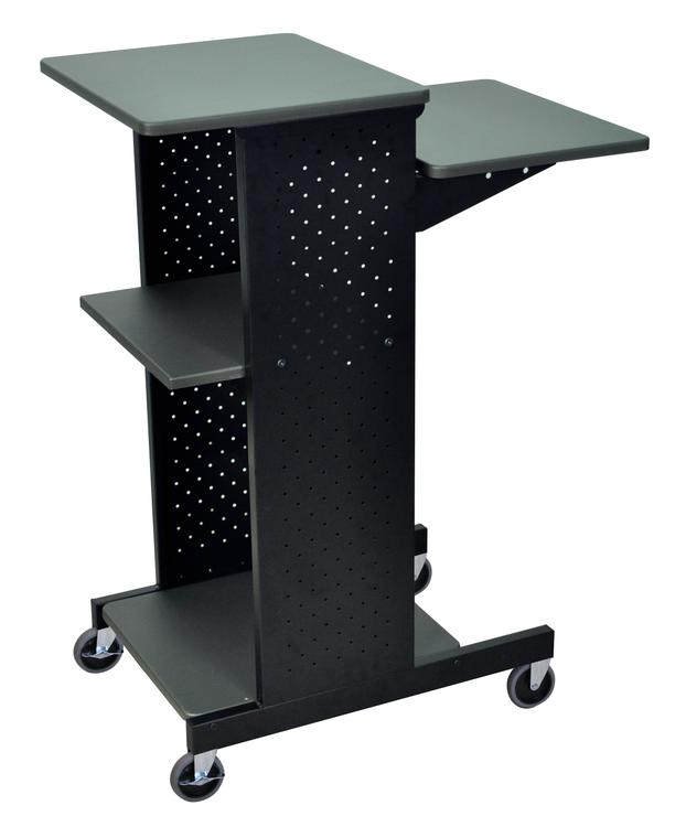Luxor Gray 4 Shelf Mobile Presentation Station [Item # PS4000A]