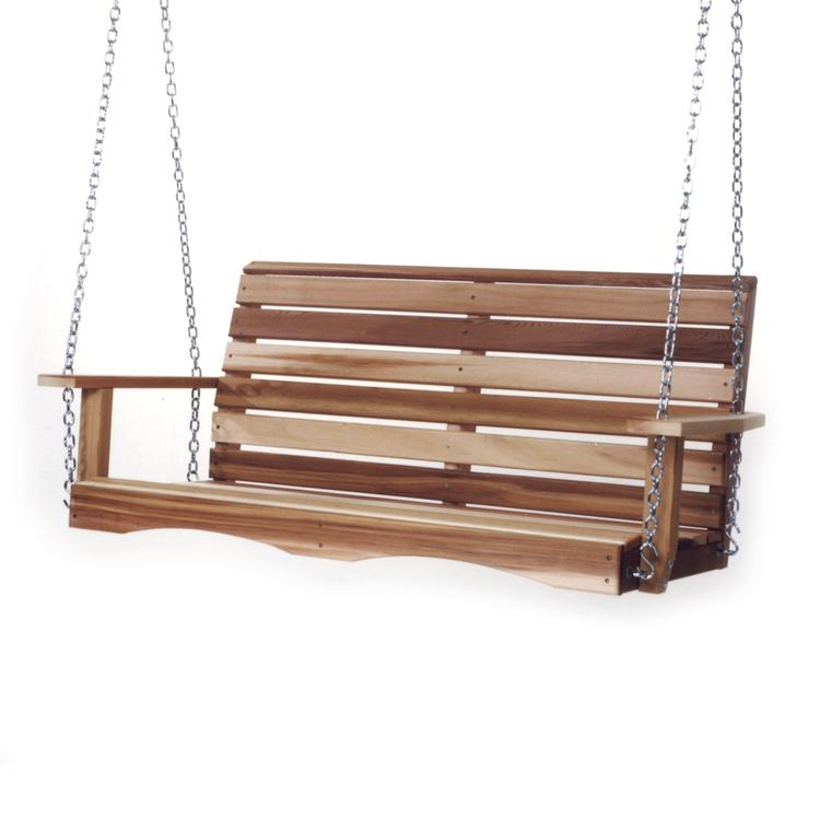 All Things Cedar 4' Porch Swing & Comfort Swing Springs