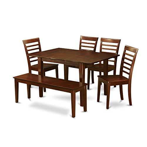 East West Furniture Kitchen Nook Dining Set -Small Table With Dining Chairs
