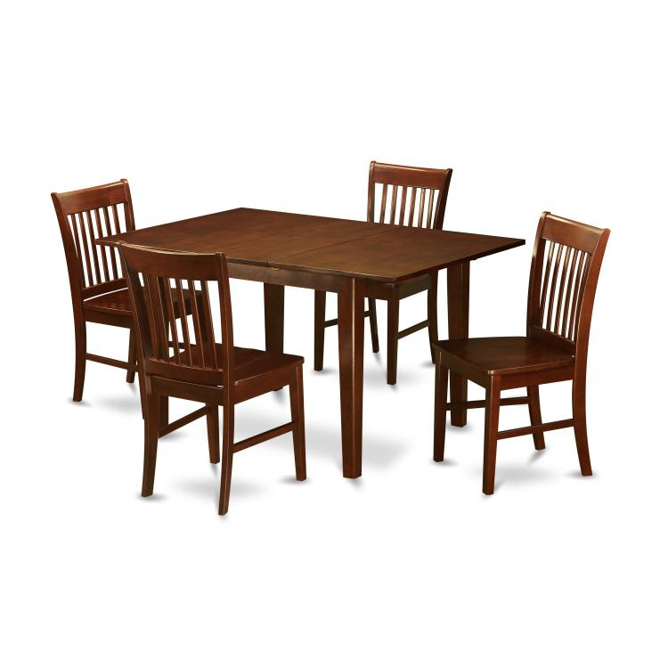 East West Furniture 5-Piece Kitchen Table Set