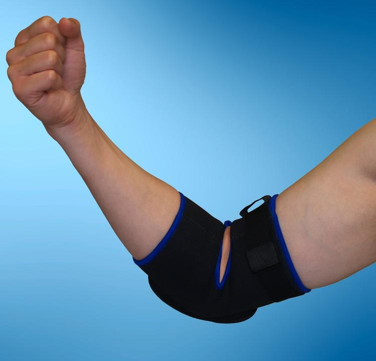 Proman Protexx Elbow Sport Protective Support Brace with Thick Pad, Black [Item # PT16918]