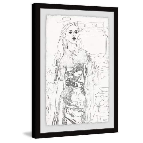 Buzzing Fashion Beauty Framed Painting Print