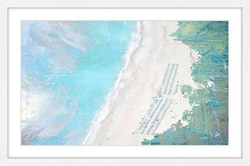 Coastal Sand by Parvez Taj Framed Painting Print