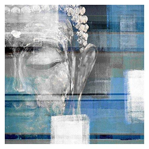 Blue Buddha by Parvez Taj Painting Print on Wrapped Canvas