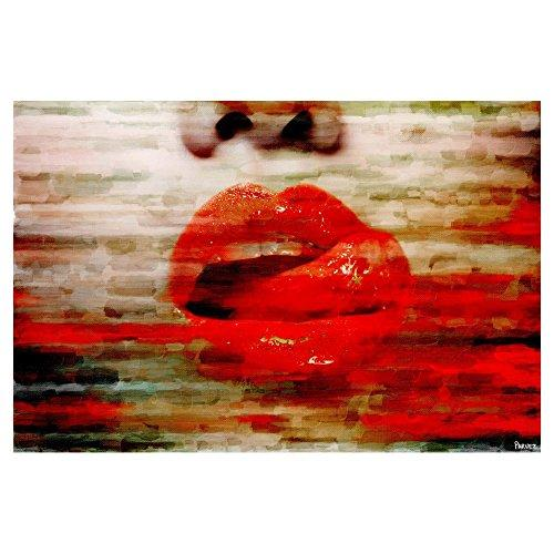Lick My Lips by Parvez Taj Painting Print on Wrapped Canvas