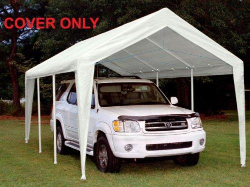 King Canopy White Fitted Cover with Leg Skirts