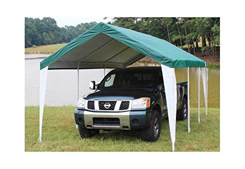King Canopy Green/White Fitted Cover with Leg Skirts