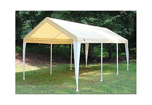 King Canopy Tan/White Fitted Cover with Leg Skirts