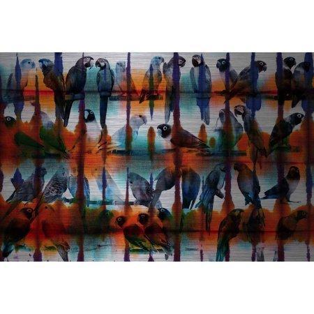 Secret Wings by Parvez Taj Painting Print on Brushed Aluminum
