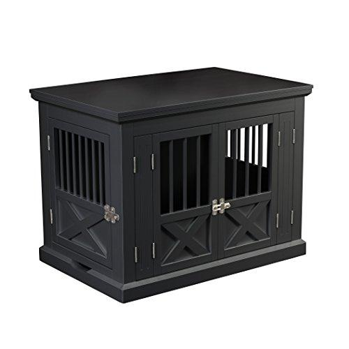 Zoovilla Triple Door Dog Crate, Black, Medium