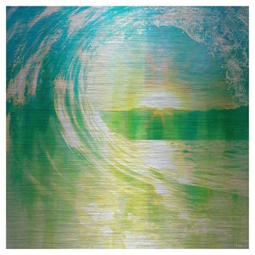 Perfect Waves by Parvez Taj Painting Print on Brushed Aluminum