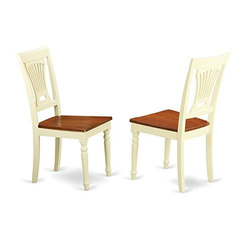 Plainville Kitchen dining Chair Wood Seat - Buttermilk and Cherry Finish