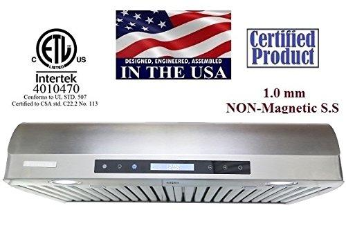 XtremeAir Non-Magnetic Under Cabinet Range Hood