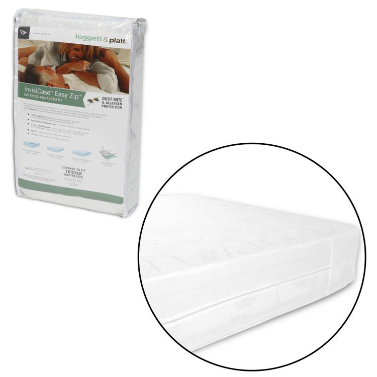 Fashion Bed Group InvisiCase Easy Zip Expandable Mattress Encasement with Stain and Dust Mite Defense
