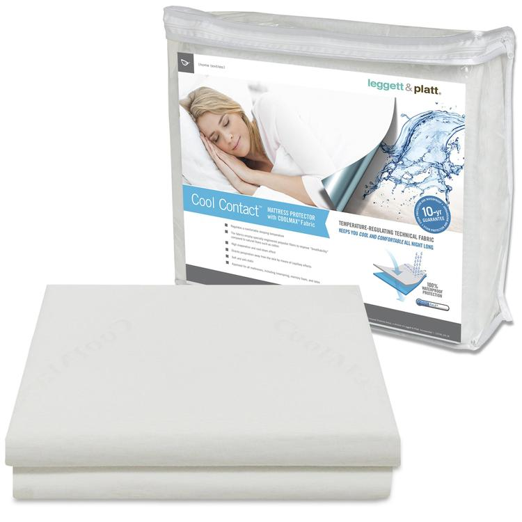 Fashion Bed Group Cool Contact Mattress Protector with Soft and Moisture Resistant CoolMax Fabric