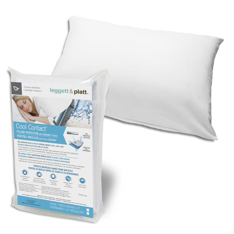 Fashion Bed Group Cool Contact Pillow Protector with Soft and Moisture Resistant CoolMax Fabric