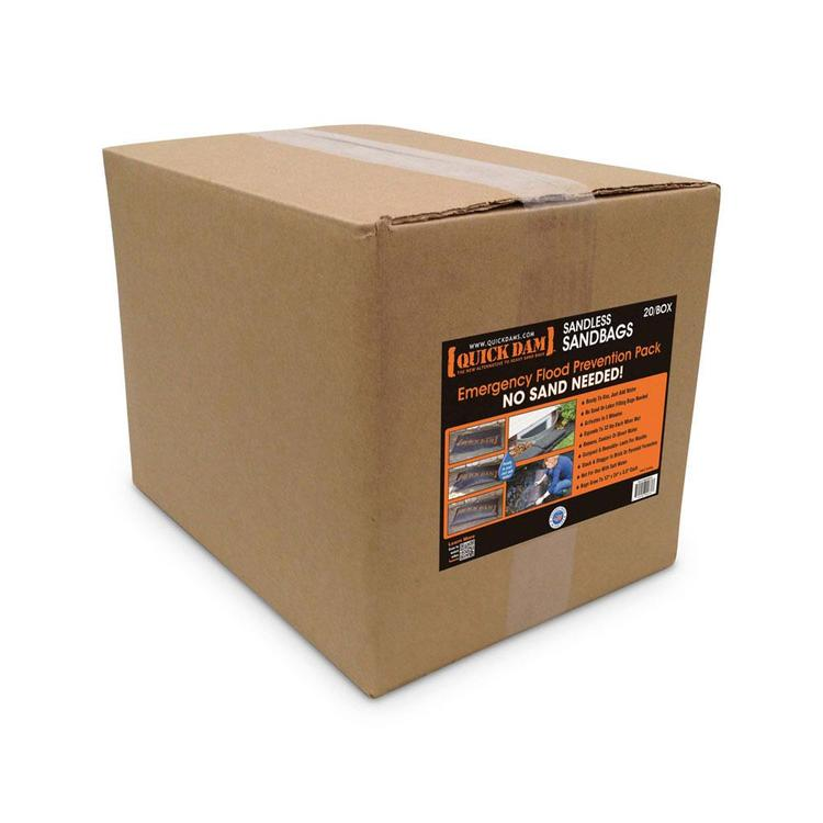 Quick Dam Water Activated Flood Bags 1ft x 2ft, 20-Pack