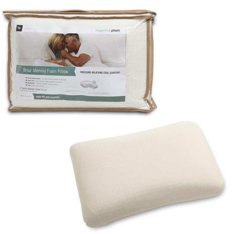 Fashion Bed Group Brisa Memory Foam Pillow with Portable Zippered Carrying Case