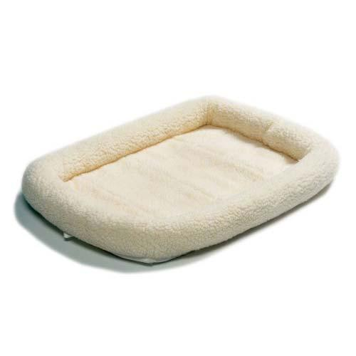 Quiet Time Fleece Dog Crate Bed