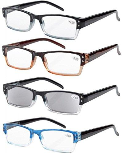 Eyekepper 4-pack Spring Hinges Reading Glasses Includes Sun Readers +2.50