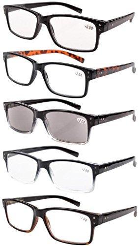 Eyekepper 5-pack Spring Hinges Vintage Reading Glasses Men +2.75