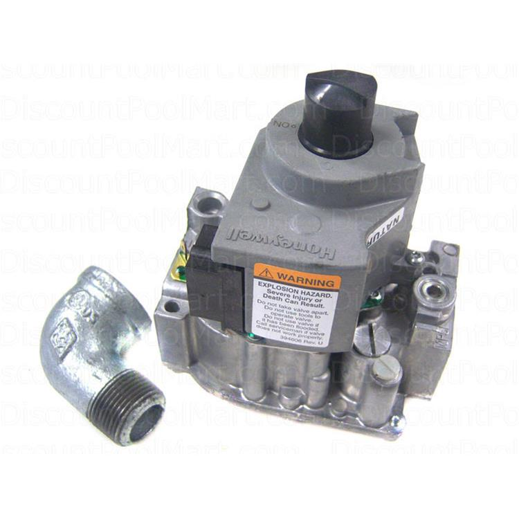 Natural Gas Valve with Street Elbow Replacement for Zodiac Jandy LX/LT Low NOx Pool and Spa Heater