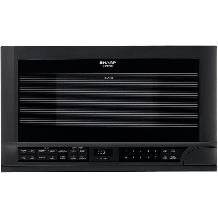 Sharp 1.5 Cu. Ft. 1100W Over-the-Counter Microwave in Black