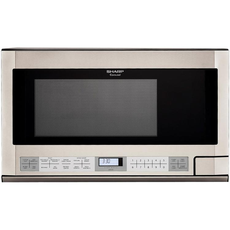 Sharp 1.5 Cu. Ft. 1100W Over-the-Counter Microwave in Stainless Steel