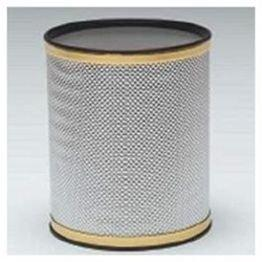 WC Redmon Bath Jewelry Diamond Pattern Round Vinyl Wastebasket
