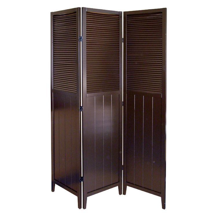 Shutter Door 3-Panel Room Divider