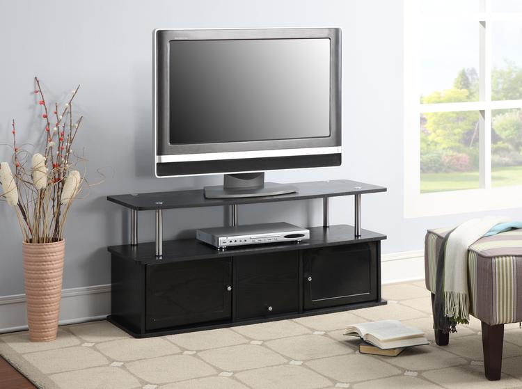 Designs2Go Tv Stand With 3 Cabinets