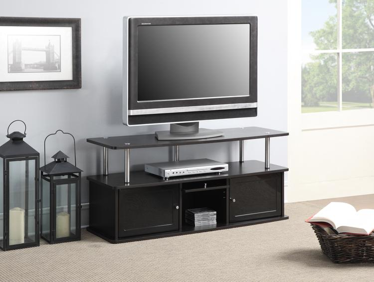 Convenience Concepts Designs2Go Tv Stand With 3 Cabinets [Item # R5-130A]