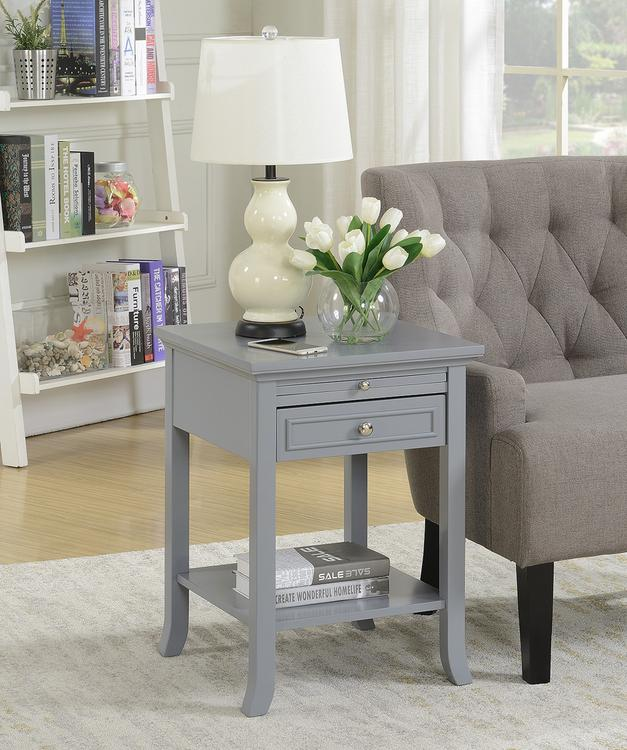 American Heritage Logan End Table With Drawer And Slide